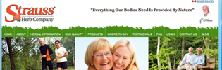 Kamloops website design | Strauss Herb Co